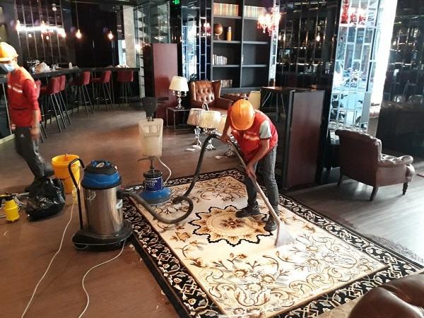 Dọn vệ sinh công nghiệp cho công trình sau xây dựng